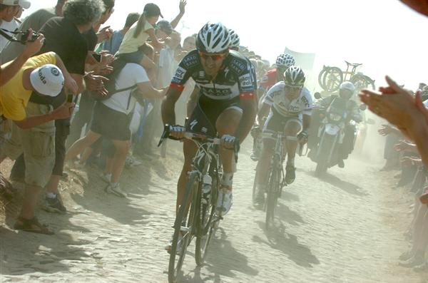 2010 Tour de France - Cancellara on the Pav in Stage 3
