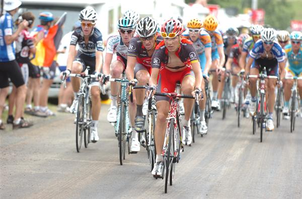 2010 Tour France - Brajkovic Leads Armstrong in Stage 7