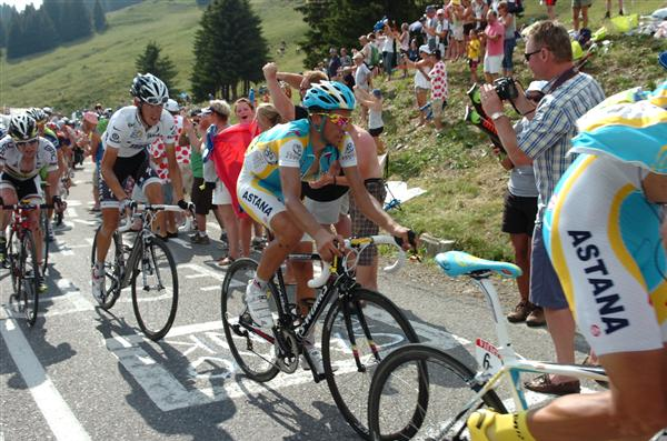 2010 Tour de France - Contador in Stage 8