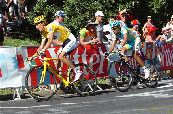 2010 Tour de France - Schleck and Contador in Stage 14