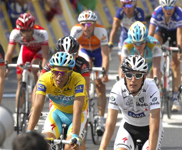 2010 Tour de France - Contador and Schleck After Stage 16
