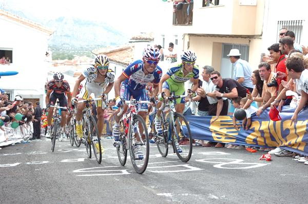 2010 Vuelta Espana - Rodriguez, Nibali, and HTC Rider