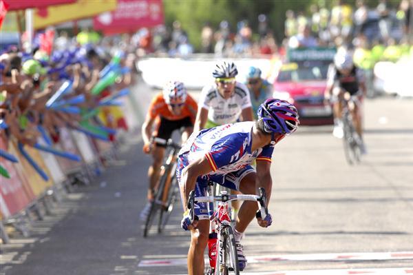 2010 Vuelta Espana - Rodriquez, Anton, and Nibali Finish Stage 8