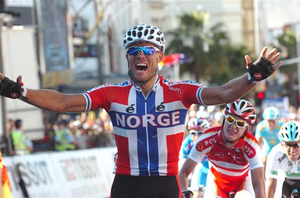 2010 Worlds Elite Men's Road Race - Hushovd Wins