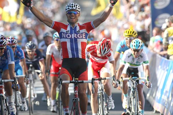 2010 Elite Mens World Road Race - Thor Wins