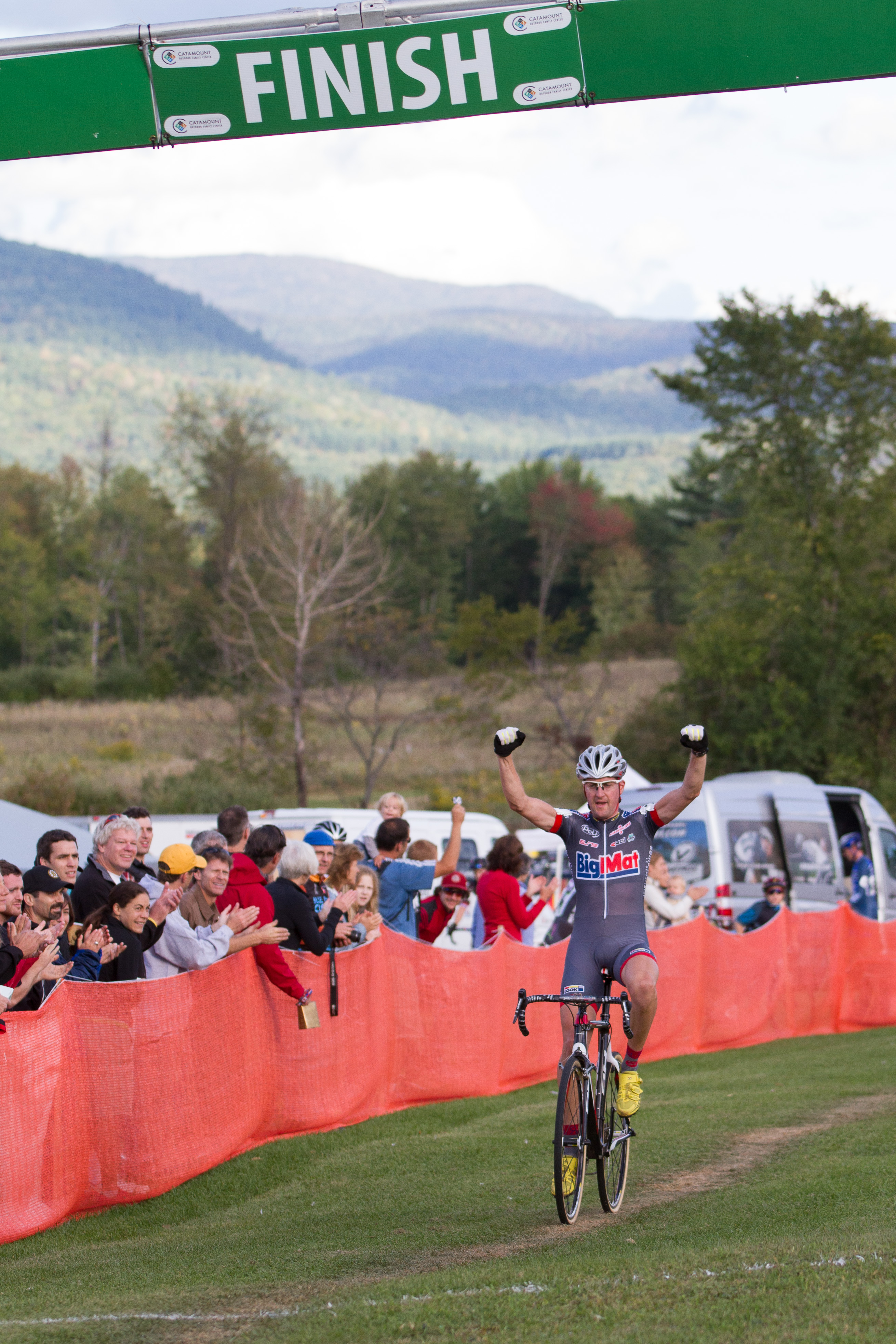 Nicolas Bazin wins the first race of the 2012 Verge New England Cyclocross Series. Photo: Todd Prekaski.