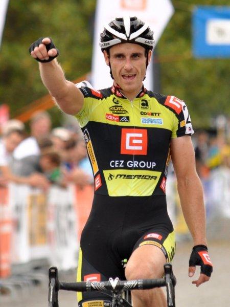 Matin Bina takes the win in Mladá Boleslav. Photo: Martin Bali-Jenčík.